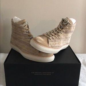 Frye Hi Top Gates Print Suede Sneakers 11.5 M